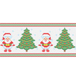 Christmas embroidery seamless texture vector image vector image