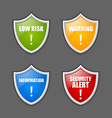 Notification message shields vector image vector image