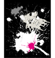 grunge black background with splats vector image