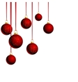 Christmas balls with ribbons on white background vector image