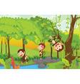 Cheeky monkeys vector image