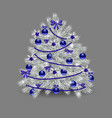 christmas tree blue vector image