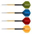 Dart arrows collection vector image