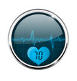 electrocardiogram sign blue waves with pulse vector image