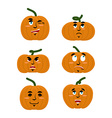 Emotions pumpkin Set expressions avatar for vector image