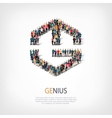 genius people sign 3d vector image