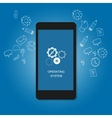 mobile operating system OS cell phone flat vector image