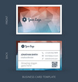 modern creative business card template Flat design vector image