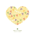 party decorations bunting heart silhouette pattern vector image