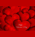 red hearts on Valentine Day vector image