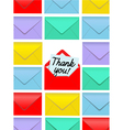 Thank You Note Envelopes vector image