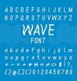Wave Font Design Alphabet vector image