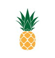 Pineapple with leaf yellow vector image vector image