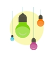 Idea Concept Background Glowing Light Bulb vector image