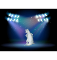 An animal standing with spotlights vector image vector image