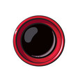 top view drawing of soy sauce bowl chinese vector image