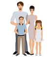 Happy family full length vector image