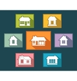 set colorful cottage buttons vector image