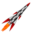 military rocket vector image