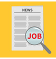 Find job Newspaper icon Optic glass instrument vector image