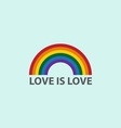 Rainbow icon with word love is loveLGBT support sy vector image