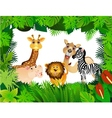 funny animal collection vector image vector image