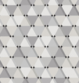 Abstract seamless pattern with grey triangles vector image