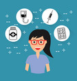 female doctor staff hospital profession medical vector image