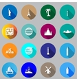 Flat icons for travel vector image