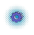 Gear comics icon vector image