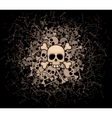 Heap of skulls and bones vector image