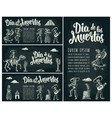 horizontal poster for day of the dead dia de los vector image