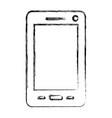 monochrome blurred silhouette of smartphone vector image