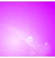 Pink abstract design vector image