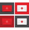 seal envelope set vector image