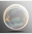 soap bubble multicolored transparent bubble with vector image