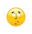 surprised emoji isolated astonished yellow circle vector image
