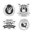 Vintage motorcycle or motorbike club vector image