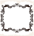 vintage retro frame Decorative background vector image
