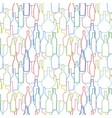 wine bottles pattern vector image
