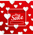 valentines day big sale background vector image