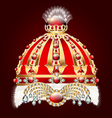 royal golden crown with an ornament vector image