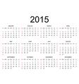 Calendar 2015 simple design vector image
