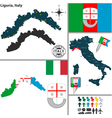 Map of Liguria vector image vector image