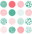 Seamless pattern with hand drawn round textures vector image vector image