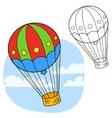 Air balloon Coloring book page vector image
