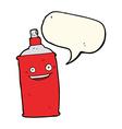 cartoon spray can with speech bubble vector image