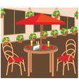 summer street cafe vector image vector image