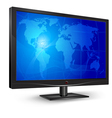 monitor blue world map vector image vector image