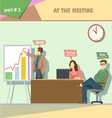 Business company roles situation infographics with vector image